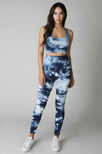 Seamless Tie Dye Crop Top