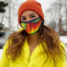 Load image into Gallery viewer, PRINTED TIE DYE - CORDLOCK PROTECTIVE FACE MASK