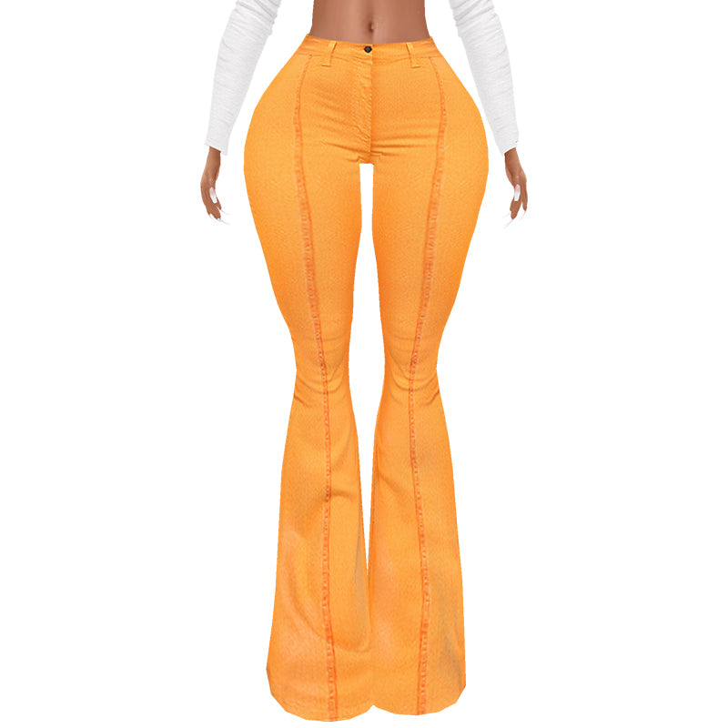 Flared Orange Pants