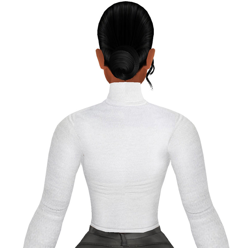 Enews White Turtleneck