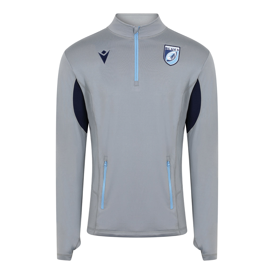 Cardiff Blues Travel ¼ Zip Top Adult 19/20