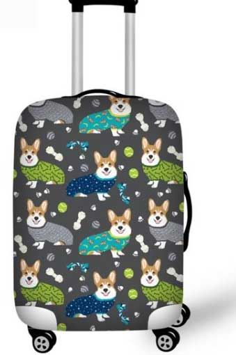 Corgi Dog Elastic Suitcase Cover