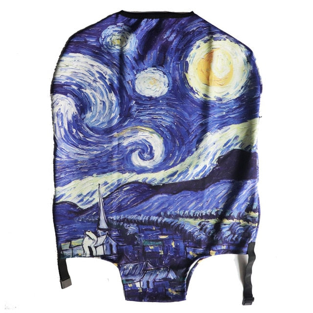 Van Gogh Colorful Thick Suitcase Cover