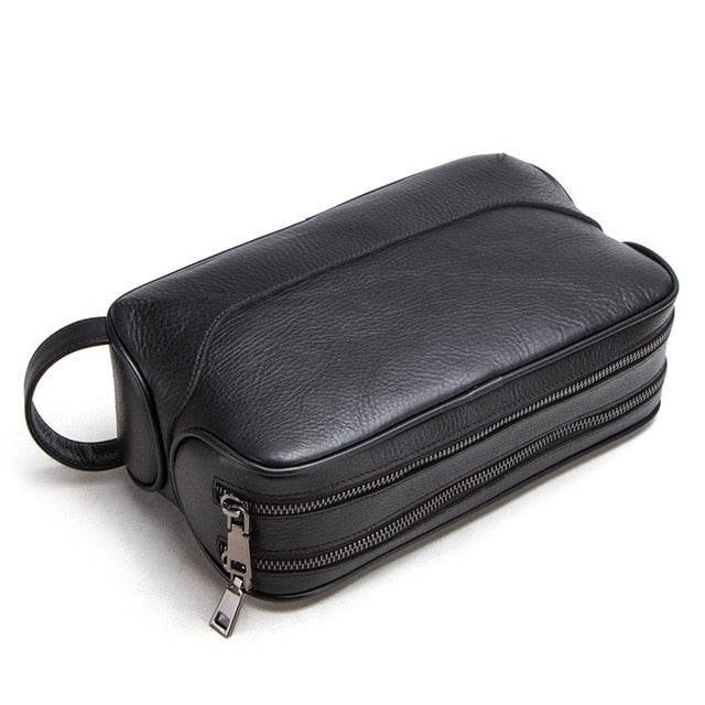 Vintage Wash 100% genuine leather toiletry bag for men