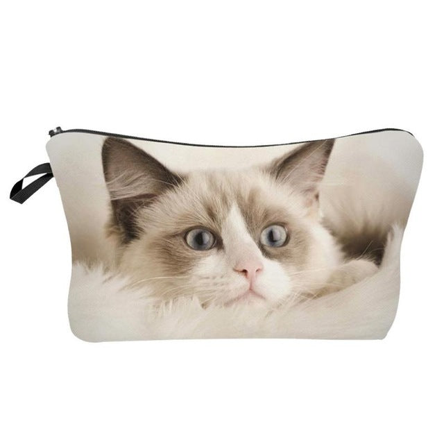 Catty Tails Clutch Makeup Bag