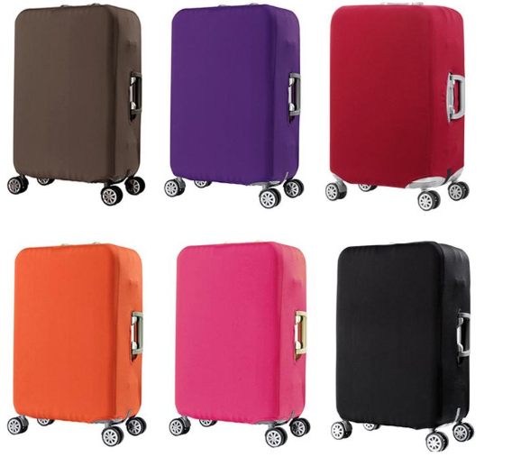 Solid Color Elastic Protective Suitcase Cover