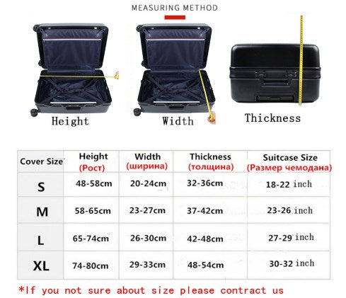 Travel Time Extra Thick Suitcase Protective Cover