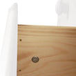 Copenhagen 5 Drawer Narrow Chest White - Alidasa