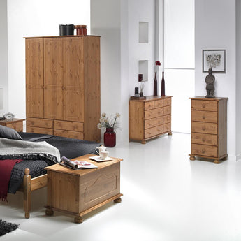 Copenhagen 5 Drawer  Narrow Chest Pine - Alidasa