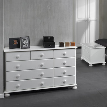Copenhagen 2+3+4 Drawer Chest White - Alidasa