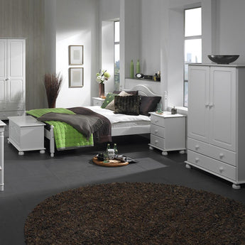 Copenhagen 2 Door 2 Drawer Combi Robe White - Alidasa