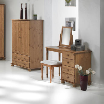Copenhagen 2 Door 2 Drawer Combi Robe Pine - Alidasa