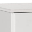 Scandi 3 Drawer Bedside White - Alidasa