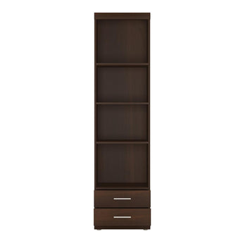 Imperial Tall 2 Drawer Narrow Cabinet open shelving - Alidasa