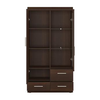Imperial 2 Door 3 Drawer Glazed Display Cabinet - Alidasa