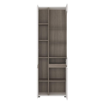 Chelsea Tall Glazed Narrow Display unit (LHD) alidasa.myshopify.com