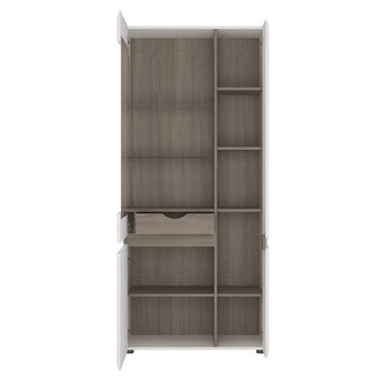 Chelsea Tall Glazed Wide Display unit (RHD) alidasa.myshopify.com
