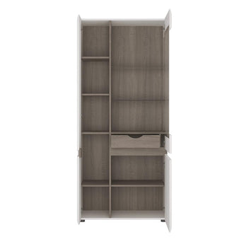 Chelsea Tall Glazed Wide Display unit (LHD) - Alidasa