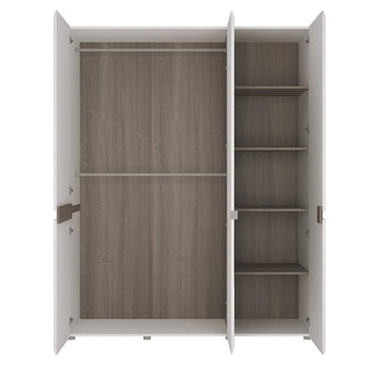 Chelsea 3 Door Robe with mirror and Internal shelving - Alidasa