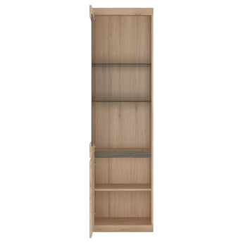 Kensington Tall Narrow 2 Door Glazed Display Cabinet (LHD) - Alidasa