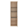 Kensington Tall Narrow 2 Door Glazed Display Cabinet (RHD) - Alidasa