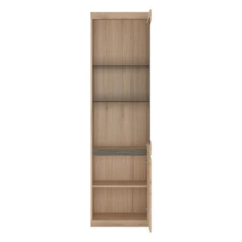 Kensington Tall Narrow 2 Door Glazed Display Cabinet (RHD) alidasa.myshopify.com