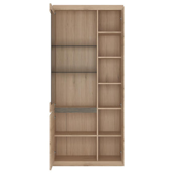 Kensington Tall Wide 3 Door Glazed Display Cabinet - Alidasa