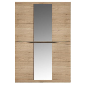 Kensington 3 Door Wardrobe with Centre Mirror door - Alidasa