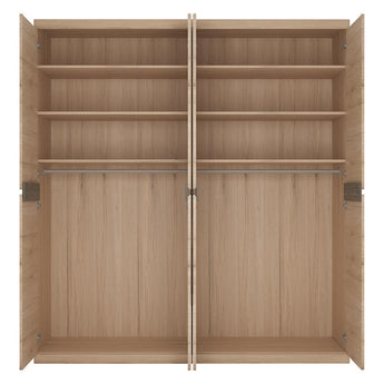 Kensington 4 Door Wardrobe with 2 Mirror doors - Alidasa
