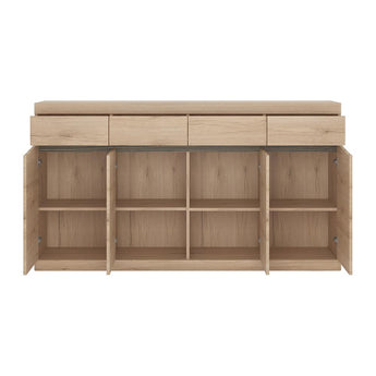 Kensington Wide 4 Drawer 4 door Sideboard alidasa.myshopify.com