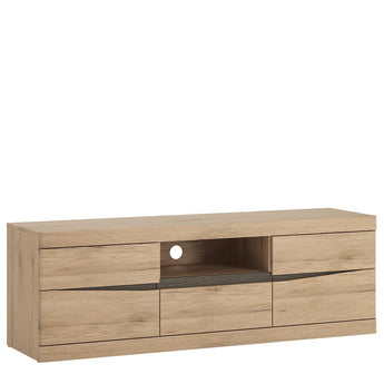 Kensington 2 Door 1 Drawer Wide TV Cabinet - Alidasa