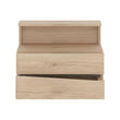 Kensington 2 Drawer Bedside Cabinet LH Drawer (wall fixing) - Alidasa