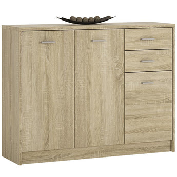 4 You 3 Door 2 Drawer Wide cupboard - Alidasa