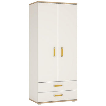 4Kids 2 Door 2 Drawer Wardrobe - Alidasa
