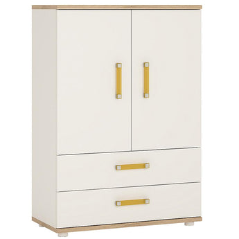 4Kids 2 Door 2 Drawer Cabinet - Alidasa