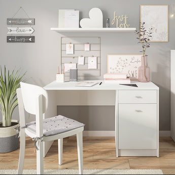 4 You 1 door 1 drawer desk in Pearl White - Alidasa