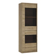 Shetland 1 Door 1 Drawer Narrow Glazed display cabinet alidasa.myshopify.com