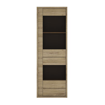 Shetland 1 Door 1 Drawer Narrow Glazed display cabinet - Alidasa