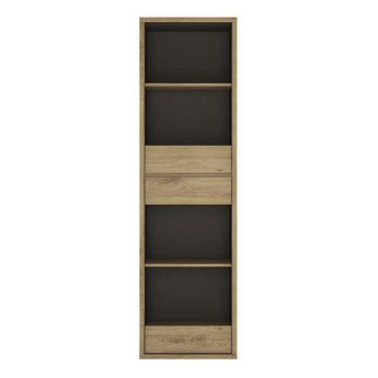 Shetland Tall Narrow 3 Drawer bookcase - Alidasa