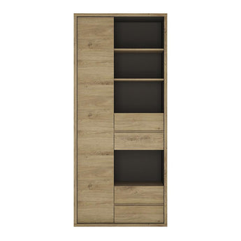 Shetland Tall wide 1 door 4 drawer bookcase alidasa.myshopify.com