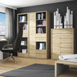 Shetland Tall wide 1 door 4 drawer bookcase - Alidasa