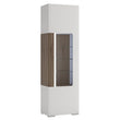 Toronto Tall narrow glazed display cabinet with internal shelves (inc Plexi Lighting) - Alidasa