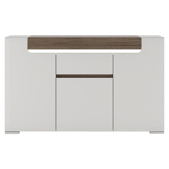 Toronto 3 Door 1 Drawer Sideboard (inc Plexi Lighting) - Alidasa