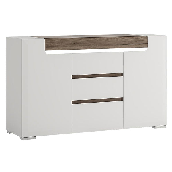 Toronto 2 Door 3 Drawer Sideboard (inc Plexi Lighting) - Alidasa
