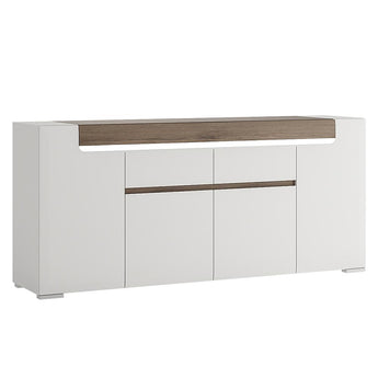 Toronto Wide 4 Door 2 Drawer Sideboard (inc Plexi Lighting) - Alidasa