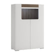 Toronto Low 2 Door cabinet with open shelf (inc Plexi Lighting) - Alidasa