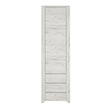 Angel Tall Narrow One Door 3 Drawer Narrow Cupboard - Alidasa