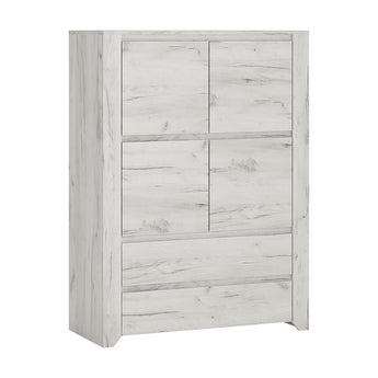 Angel 4 Door 2 Drawer Cupboard - Alidasa