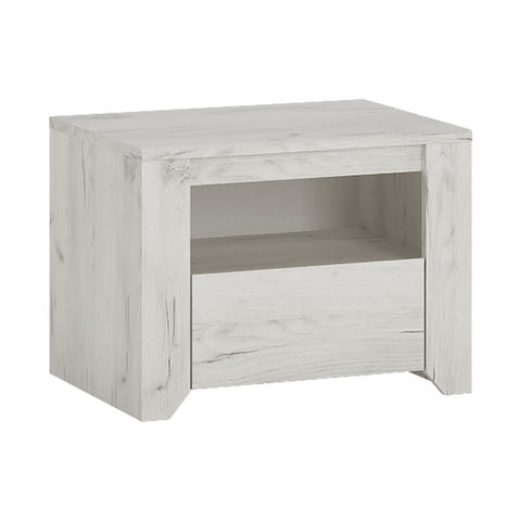 Angel 1 Drawer Bedside Cabinet - Alidasa