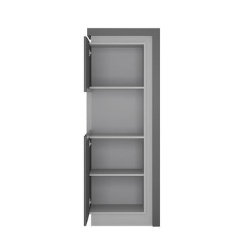 Lyon Narrow display cabinet (LHD) 164,1cm high (including LED lighting) - Alidasa